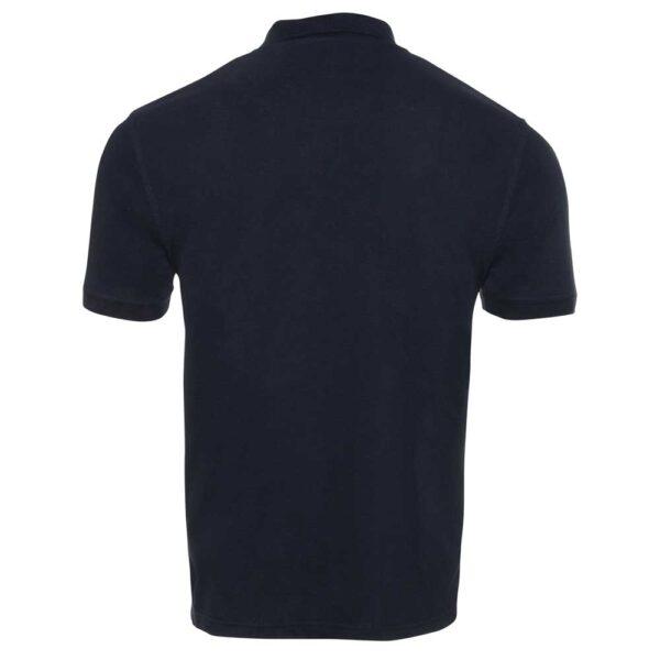 short sleeve polo navy back